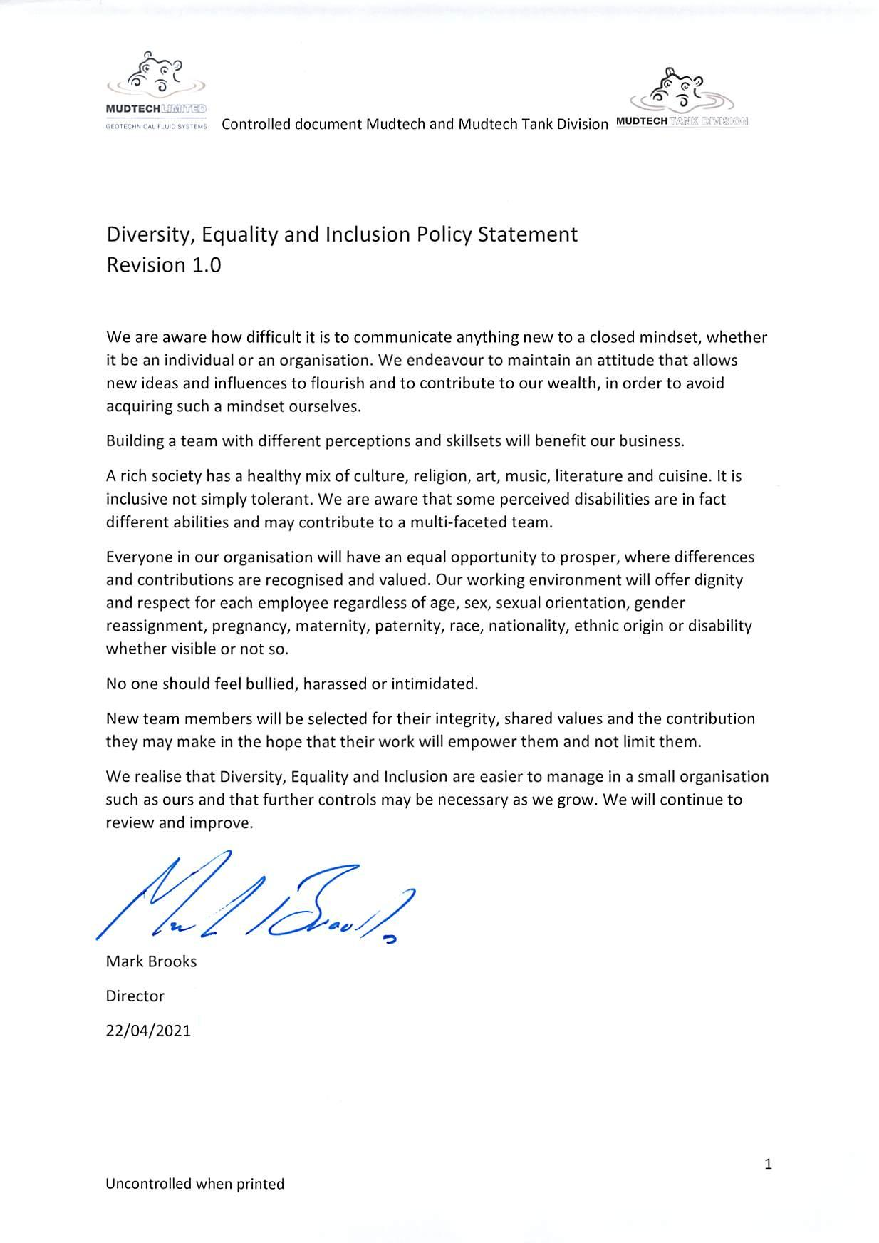Diversity, Equality and Inclusion Policy Statement Revision 1.0-page-001